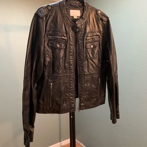 🍂Xhilaration Faux Leather Jacket Size XXL
